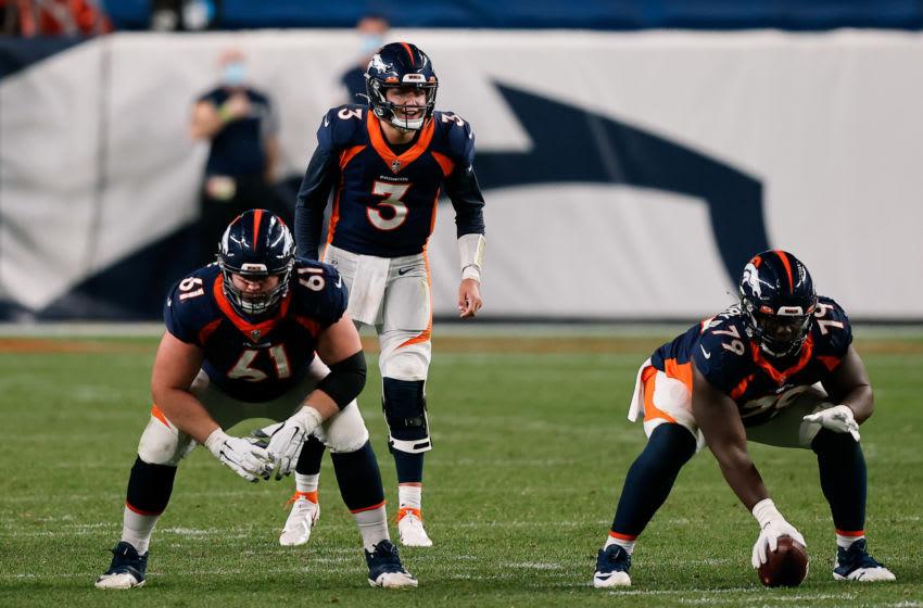 Denver Broncos RG #61 Graham Glasgow. Mandatory Credit: Isaiah J. Downing-USA TODAY Sports