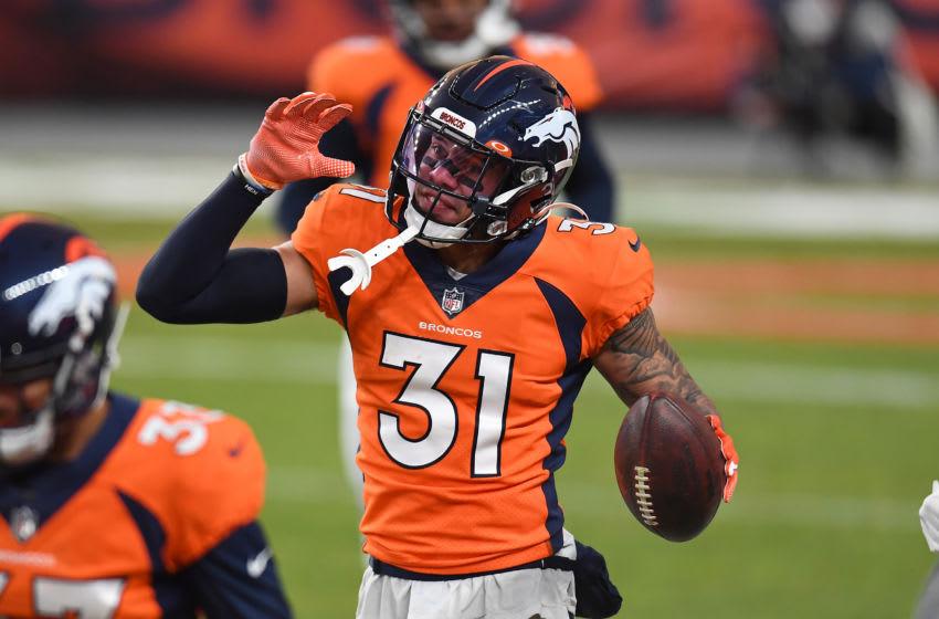 Denver Broncos safety #31 Justin Simmons. Mandatory Credit: Ron Chenoy-USA TODAY Sports