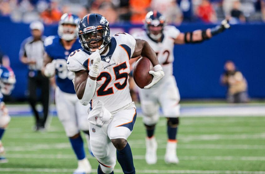 Denver Broncos running back Melvin Gordon. Mandatory Credit: Vincent Carchietta-USA TODAY Sports