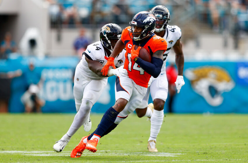Denver Broncos wide receiver Courtland Sutton. Mandatory Credit: Nathan Ray Seebeck-USA TODAY Sports