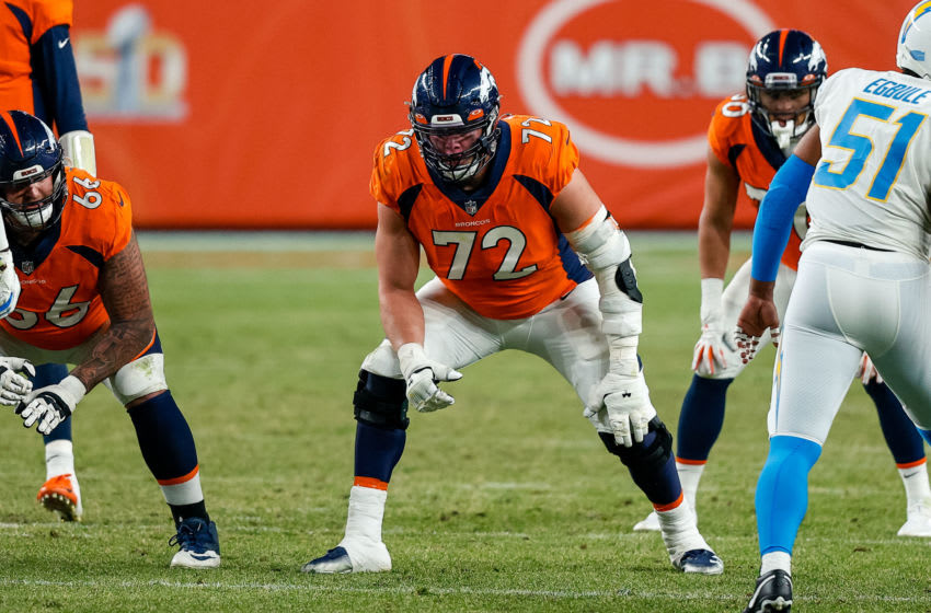 Garett Bolles, Left Tackle #72 for the Denver Broncos. Mandatory Credit: Isaiah J. Downing-USA TODAY Sports