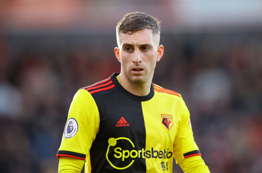 BOURNEMOUTH, ENGLAND - JANUARY 12: Gerard Deulofeu of Watford looks on during the Premier League match between AFC Bournemouth and Watford FC at Vitality Stadium on January 12, 2020 in Bournemouth, United Kingdom. (Photo by Richard Heathcote/Getty Images)