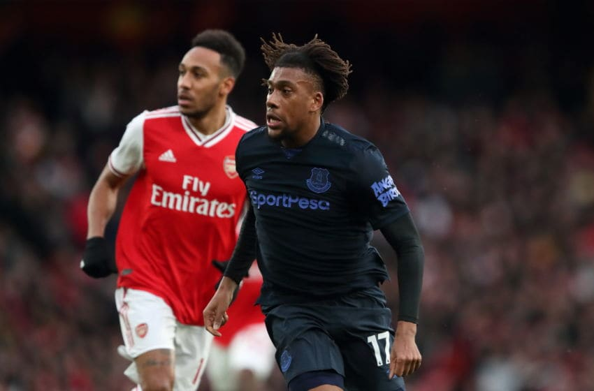LONDON, ENGLAND - FEBRUARY 23: Alex Iwobi of Everton during the Premier League match between Arsenal FC and Everton FC at Emirates Stadium on February 23, 2020 in London, United Kingdom. (Photo by James Williamson - AMA/Getty Images)