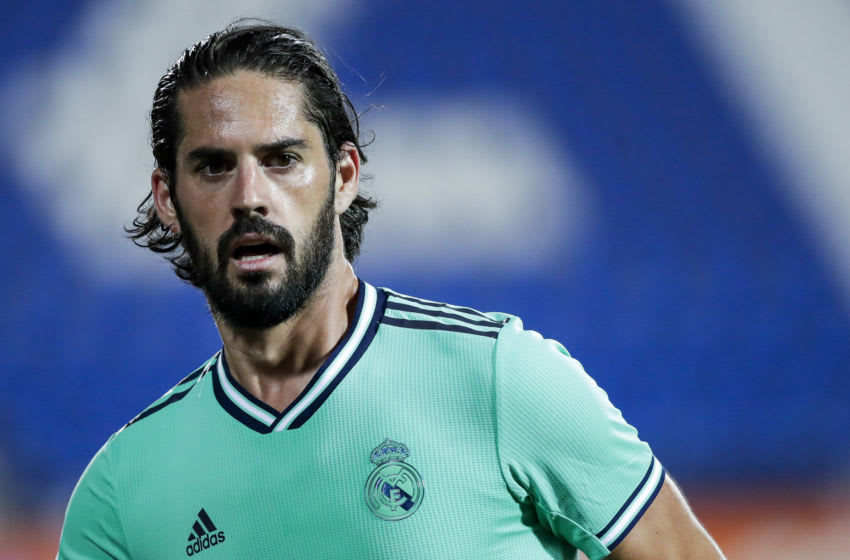 MADRID, SPAIN - JULY 19: Isco of Real Madrid during the La Liga Santander match between Leganes v Real Madrid at the Estadio Municipal de Butarque on July 19, 2020 in Madrid Spain (Photo by David S. Bustamante/Soccrates/Getty Images)