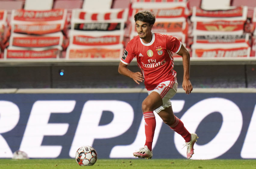 LISBON, PORTUGAL - JULY 14: Joao Filipe Jota of SL Benfica in action during the Liga NOS match between SL Benfica and Vitoria SC at Estadio da Luz on July 14, 2020 in Lisbon, Portugal. (Photo by Gualter Fatia/Getty Images)