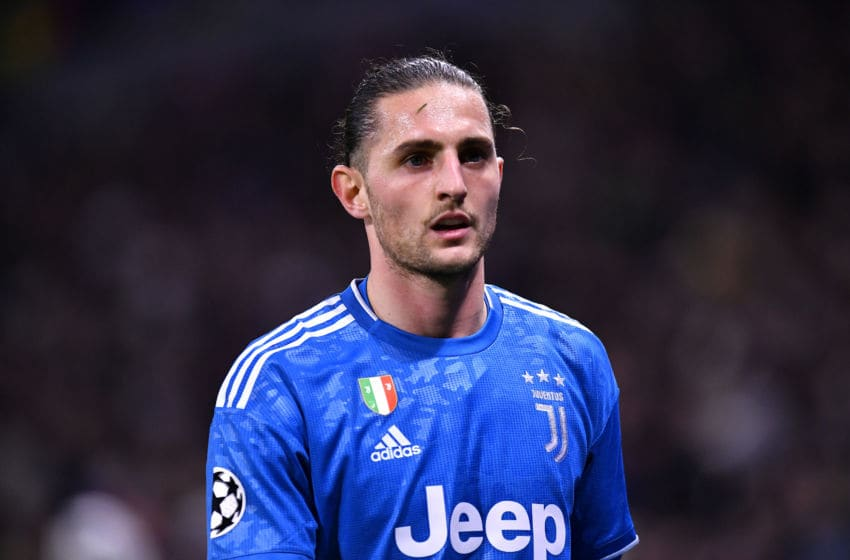 LYON, FRANCE - FEBRUARY 26: Adrien Rabiot of Juventus looks on during the UEFA Champions League round of 16 first leg match between Olympique Lyon and Juventus at Parc Olympique on February 26, 2020 in Lyon, France. (Photo by Aurelien Meunier/Getty Images)