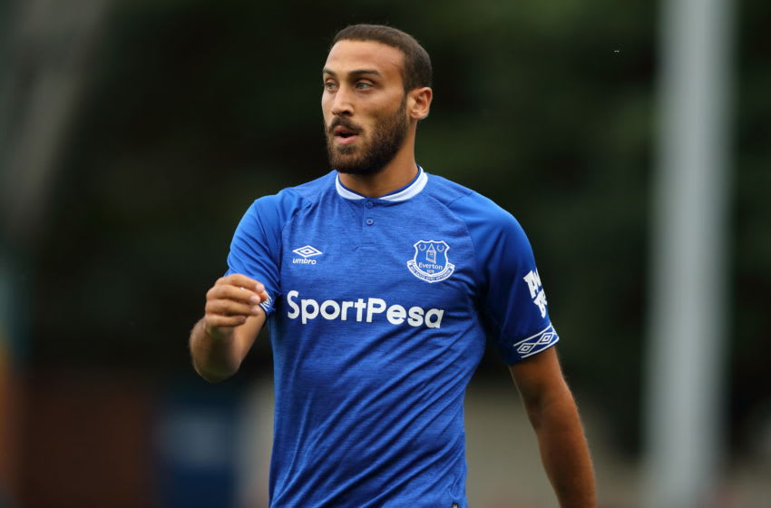 BURY, ENGLAND - JULY 18: Cenk Tosun of Everton during the Pre-Season Friendly match between Bury and Everton at Gigg Lane on July 18, 2018 in Bury, England. (Photo by James Williamson - AMA/Getty Images)