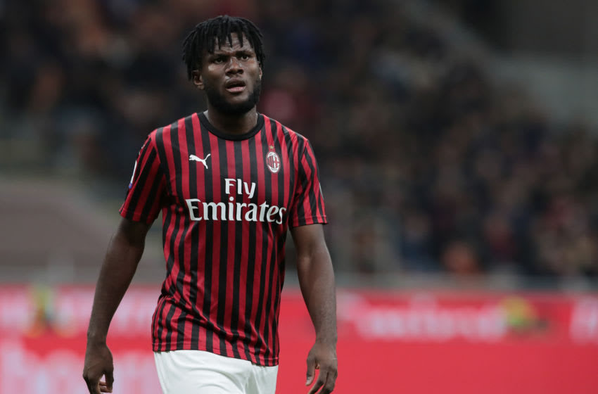 MILAN, ITALY - OCTOBER 31: Frank Kessie of AC Milan looks on during the Serie A match between AC Milan and SPAL at Stadio Giuseppe Meazza on October 31, 2019 in Milan, Italy. (Photo by Emilio Andreoli/Getty Images)