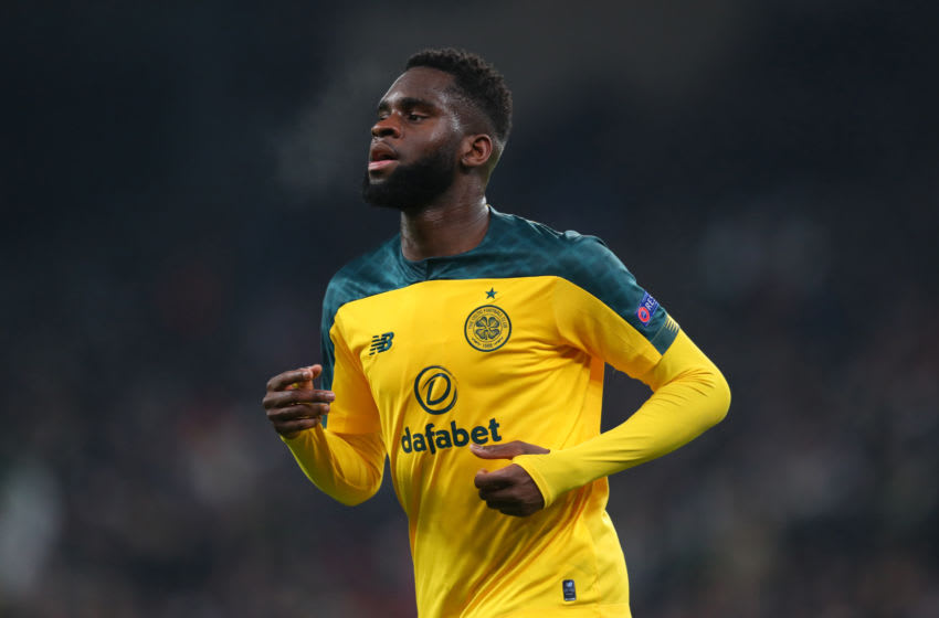 COPENHAGEN, DENMARK - FEBRUARY 20: Odsonne Edouard of Celtic during the UEFA Europa League Round of 32 first leg match between FC Kobenhavn and Celtic FC at Telia Parken on February 20, 2020 in Copenhagen, Denmark. (Photo by Catherine Ivill/Getty Images)
