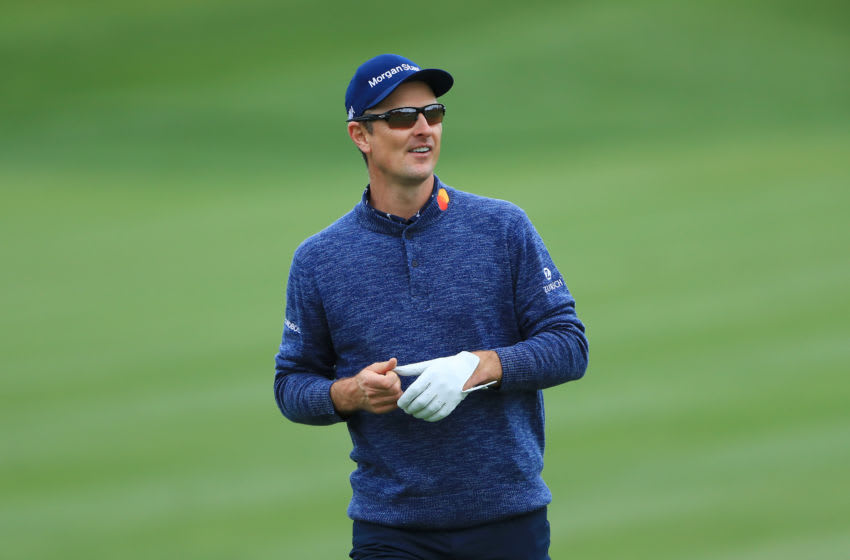 PONTE VEDRA BEACH, FLORIDA - MARCH 17: Justin Rose of England looks on on the fourth hole during the final round of The PLAYERS Championship on The Stadium Course at TPC Sawgrass on March 17, 2019 in Ponte Vedra Beach, Florida. (Photo by Sam Greenwood/Getty Images)