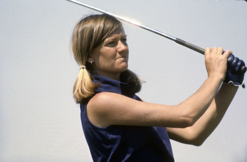 UNSPECIFIED - CIRCA 1982: Women's golfer Jane Blalock in action during tournament play circa 1982. Blalock was on the LPGA Tour from 1969-87. (Photo by Focus on Sport/Getty Images)