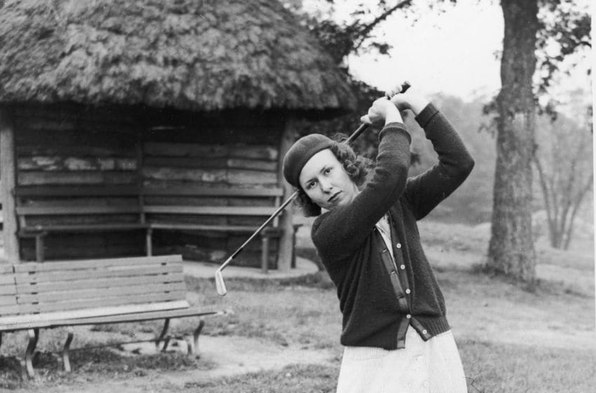 Portrait of American professional golfer Betty Jameson,on a golf course, San Antonio, Texas, circa 1930s. Jameson was a pioneer of women's golf and was inducted in the Texas Sports Hall of Fame.(Photo by Hulton Archive/Getty Images)