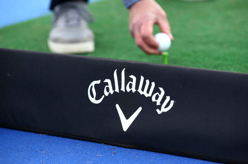 SOUTHPORT, ENGLAND - MAY 10: General view of a patron taking part in a Callaway Ultimate fit event during Day 2 of the Betfred British Masters at Hillside Golf Club on May 10, 2019 in Southport, United Kingdom. (Photo by Jan Kruger/Getty Images)