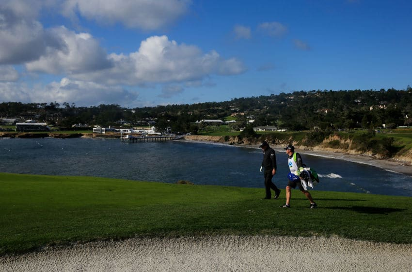 PEBBLE BEACH, CALIFORNIA - FEBRUARY 10: Phil Mickelson of the United States walks on the sixth hole during the final round of the AT&T Pebble Beach Pro-Am at Pebble Beach Golf Links on February 10, 2019 in Pebble Beach, California. (Photo by Chris Trotman/Getty Images)