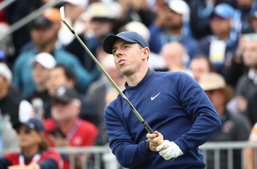 PEBBLE BEACH, CALIFORNIA - JUNE 15: Rory McIlroy of Northern Ireland 17t during the third round of the 2019 U.S. Open at Pebble Beach Golf Links on June 15, 2019 in Pebble Beach, California. (Photo by Ezra Shaw/Getty Images)