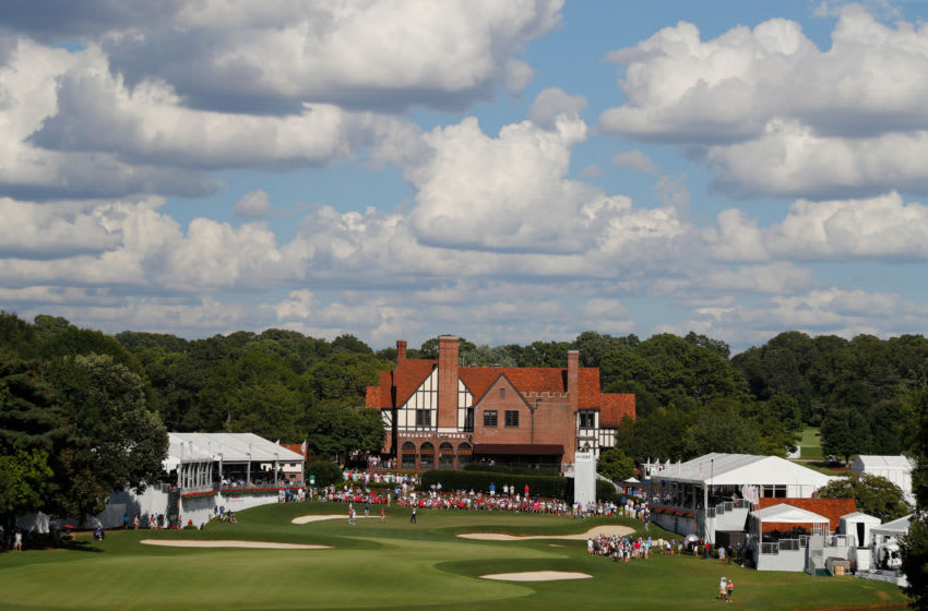 ATLANTA, GEORGIA - AUGUST 22: A general view of the 18th hole during the first round of the TOUR Championship at East Lake Golf Club on August 22, 2019 in Atlanta, Georgia. (Photo by Kevin C. Cox/Getty Images)