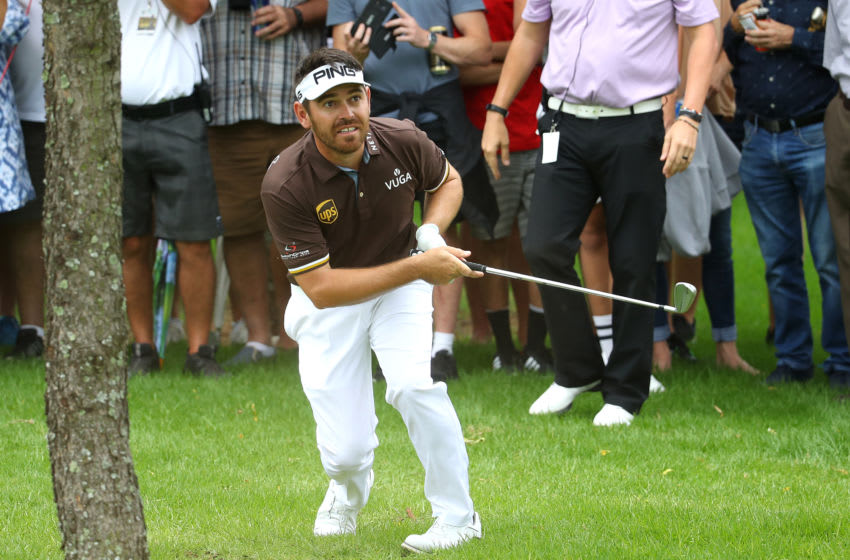 JOHANNESBURG, SOUTH AFRICA - JANUARY 11: Louis Oosthuizen of South Africa plays his second shot into the 16th green during the third round of the South African Open at Randpark Golf Club on January 11, 2020 in Johannesburg, South Africa. (Photo by Warren Little/Getty Images)