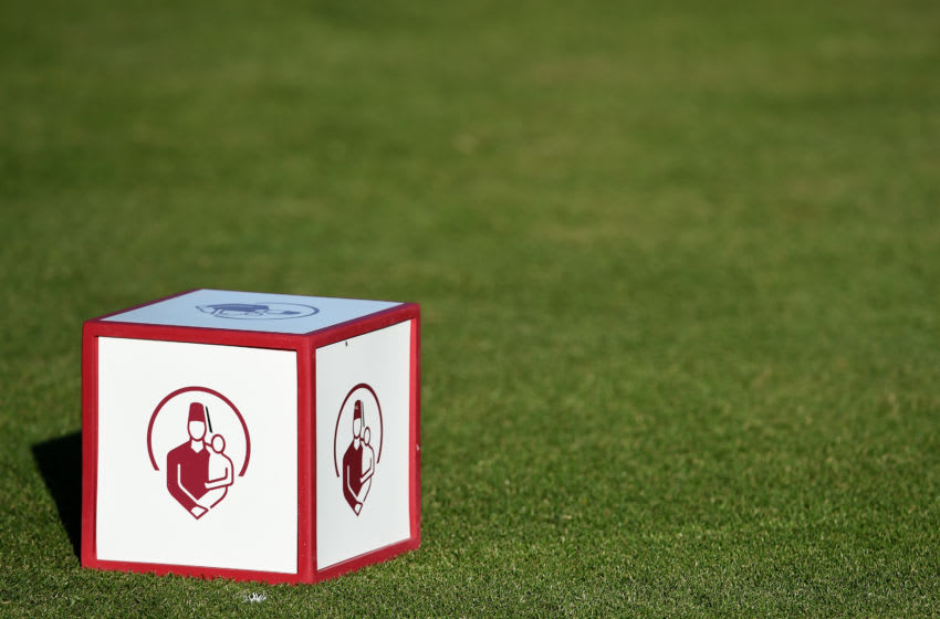LAS VEGAS, NV - NOVEMBER 03: A tee marker is seen during the first round of the Shriners Hospitals For Children Open on November 3, 2016 in Las Vegas, Nevada. (Photo by Steve Dykes/Getty Images)