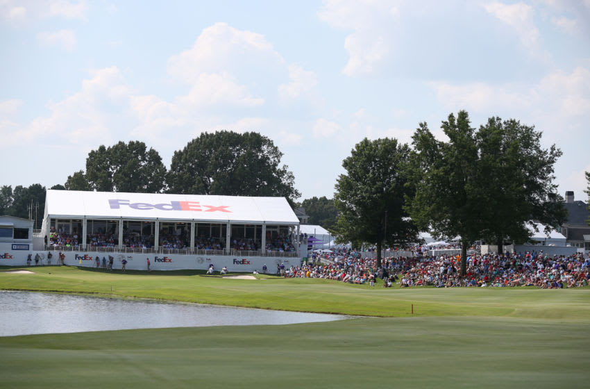 MEMPHIS, TENNESSEE - JULY 27: General view of the 18th hole during the third round of the World Golf Championship-FedEx St Jude Invitational at TPC Southwind on July 27, 2019 in Memphis, Tennessee. (Photo by Matt Sullivan/Getty Images)