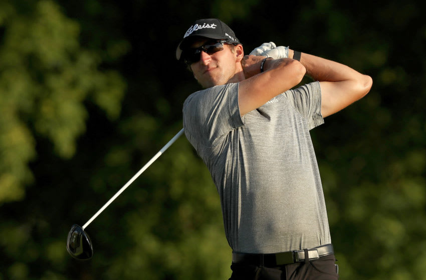 BLAINE, MINNESOTA - JULY 24: Richy Werenski of the United States plays his shot from the 11th tee during the second round of the 3M Open on July 24, 2020 at TPC Twin Cities in Blaine, Minnesota. (Photo by Matthew Stockman/Getty Images)