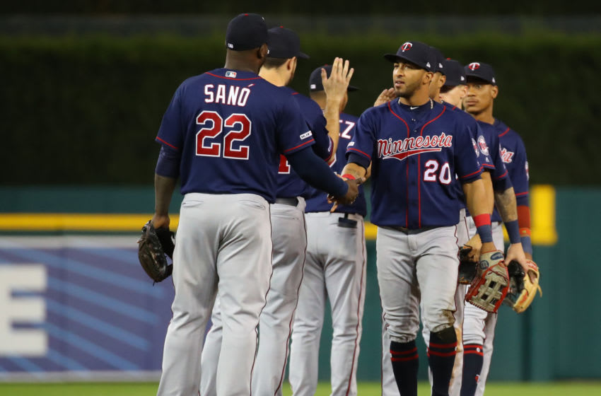 Eddie Rosario and Miguel Sano of the Minnesota Twins Photo by Gregory Shamus/Getty Images)