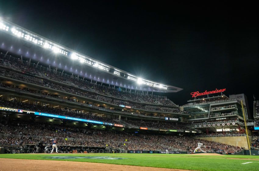 MINNEAPOLIS, MN - OCTOBER 07: A general view of Target Field during a game between the Minnesota Twins and New York Yankees on October 7, 2019 in game three of the American League Division Series at the Target Field in Minneapolis, Minnesota. (Photo by Brace Hemmelgarn/Minnesota Twins/Getty Images)