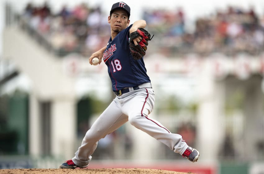Kenta Maeda of the Minnesota Twins (Photo by Billie Weiss/Boston Red Sox/Getty Images)
