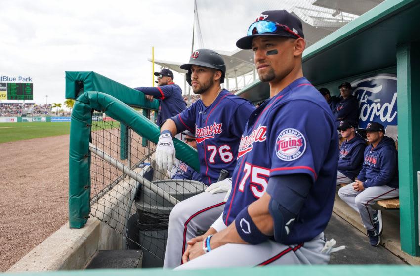 Alex Kirilloff and Royce Lewis of the Minnesota Twins (Photo by Brace Hemmelgarn/Minnesota Twins/Getty Images)