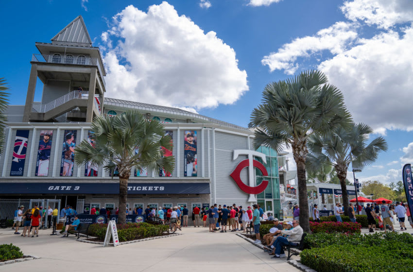 FORT MYERS, FL- MARCH 11: A general view of the exterior of Hammond Stadium prior to a spring training game between the Atlanta Braves and Minnesota Twins on March 11, 2020 in Fort Myers, Florida. (Photo by Brace Hemmelgarn/Minnesota Twins/Getty Images)