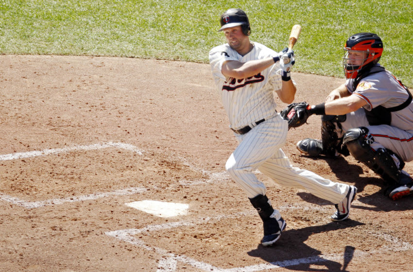 Michael Cuddyer of the Minnesota Twins bats against the Baltimore Orioles. (Photo by Bruce Kluckhohn/Minnesota Twins/Getty Images)
