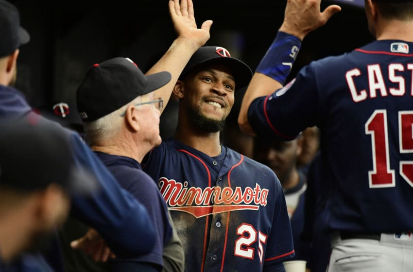 Byron Buxton of the Minnesota Twins celebrates (Photo by Julio Aguilar/Getty Images)