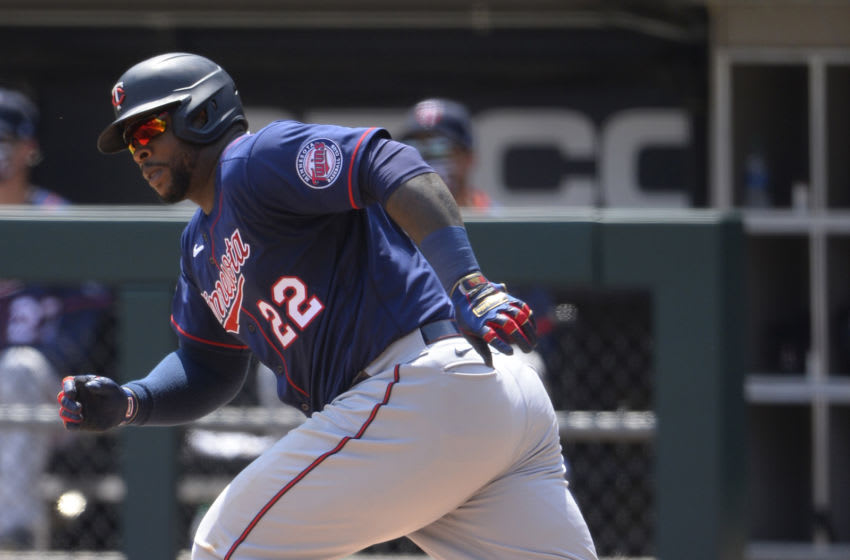 Miguel Sano of the Minnesota Twins bats against the Chicago White Sox on July 25, 2020 at Guaranteed Rate Field in Chicago, Illinois. (Photo by Ron Vesely/Getty Images)