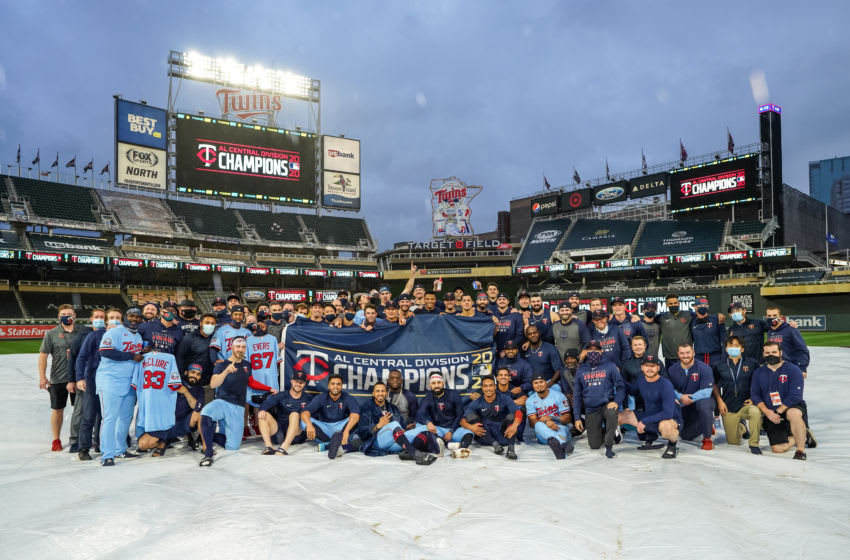 following the game against the Cincinnati Reds on September 27, 2020 at Target Field in Minneapolis, Minnesota. (Photo by Brace Hemmelgarn/Minnesota Twins/Getty Images)