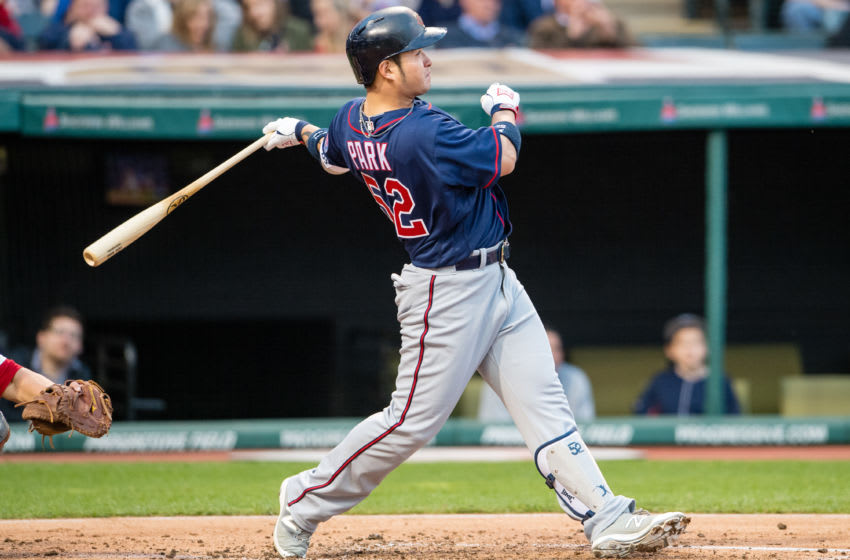 CLEVELAND, OH - MAY 13: Byung Ho Park