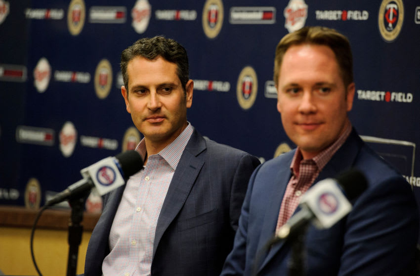 Thad Levine, General Manager and Derek Falvey, Chief Baseball Officer for the Minnesota Twins look on. (Photo by Hannah Foslien/Getty Images)
