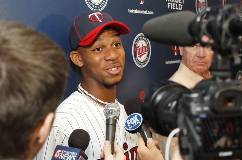 Minnesota Twins 2012 first round draft pick Byron Buxton (Photo by Bruce Kluckhohn/Minnesota Twins/Getty Images)