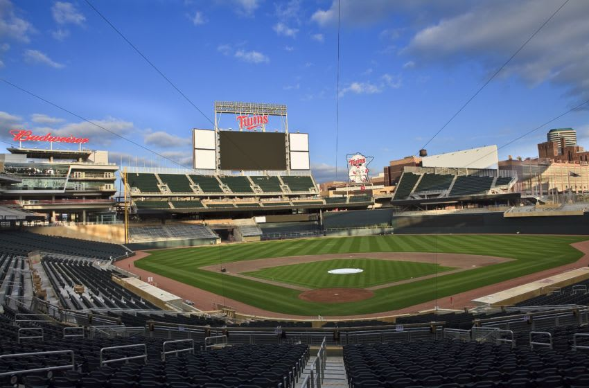 An interior general view of Target Field looking out from behind home plate Photo by Wayne Kryduba/Getty Images)