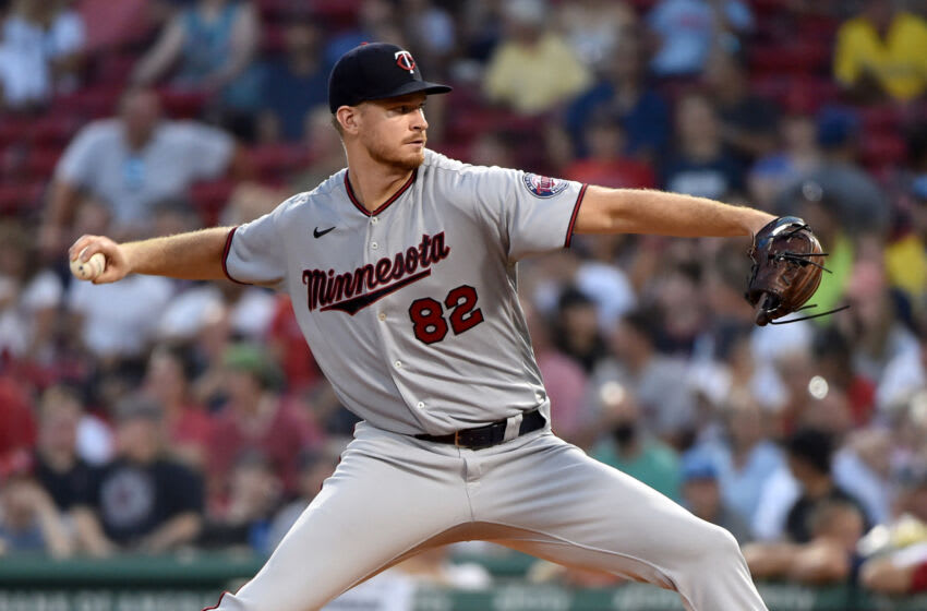 Minnesota Twins starting pitcher Bailey Ober pitches during the first inning against the Boston Red Sox at Fenway Park. Mandatory Credit: Bob DeChiara-USA TODAY Sports