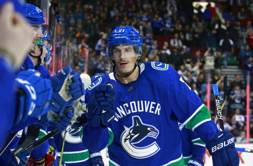 Loui Eriksson, Vancouver Canucks (Photo by Jeff Vinnick/NHLI via Getty Images)