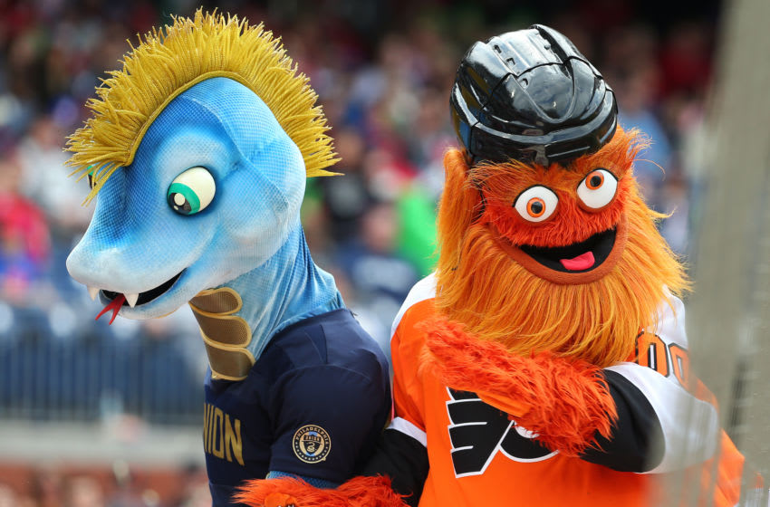 Philadelphia Flyers mascot Gritty (Photo by Rich Schultz/Getty Images)