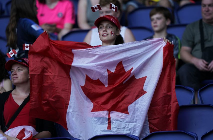 Canadian flag (Photo by Kenzo TRIBOUILLARD / AFP via Getty Images)