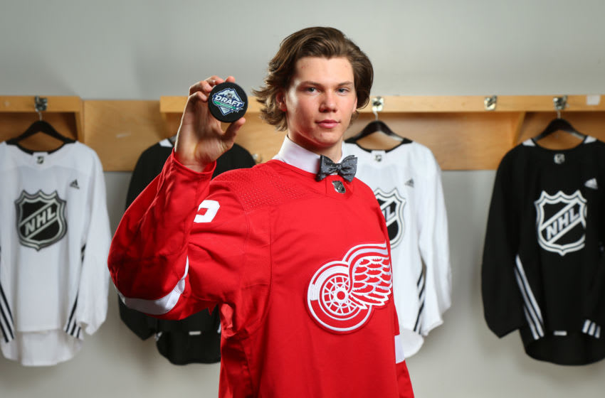 Moritz Seider, Detroit Red Wings (Photo by Andre Ringuette/NHLI via Getty Images)