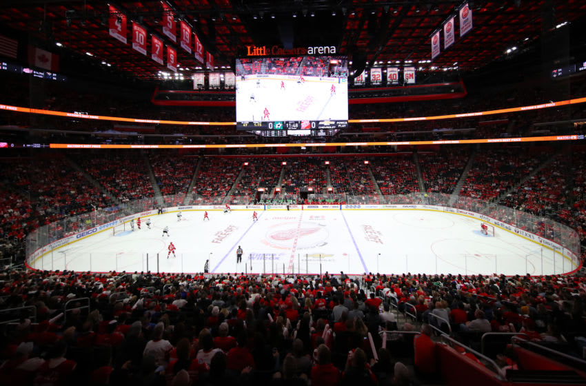 DETROIT, MICHIGAN - OCTOBER 06: General view of Little Caesars Arena during a game between the Dallas Stars and Detroit Red Wings at Little Caesars Arena on October 06, 2019 in Detroit, Michigan. (Photo by Gregory Shamus/Getty Images)