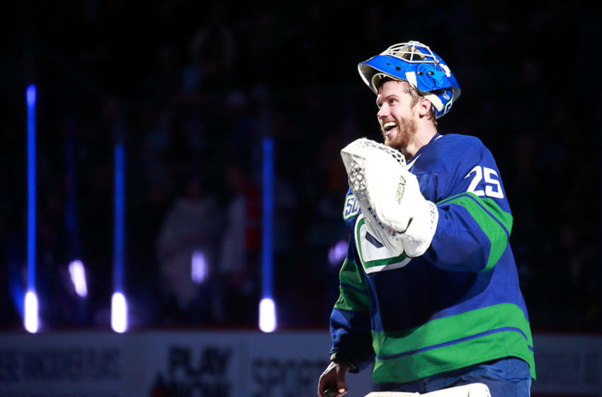 Jacob Markstrom #25 of the Vancouver Canucks (Photo by Jeff Vinnick/NHLI via Getty Images)