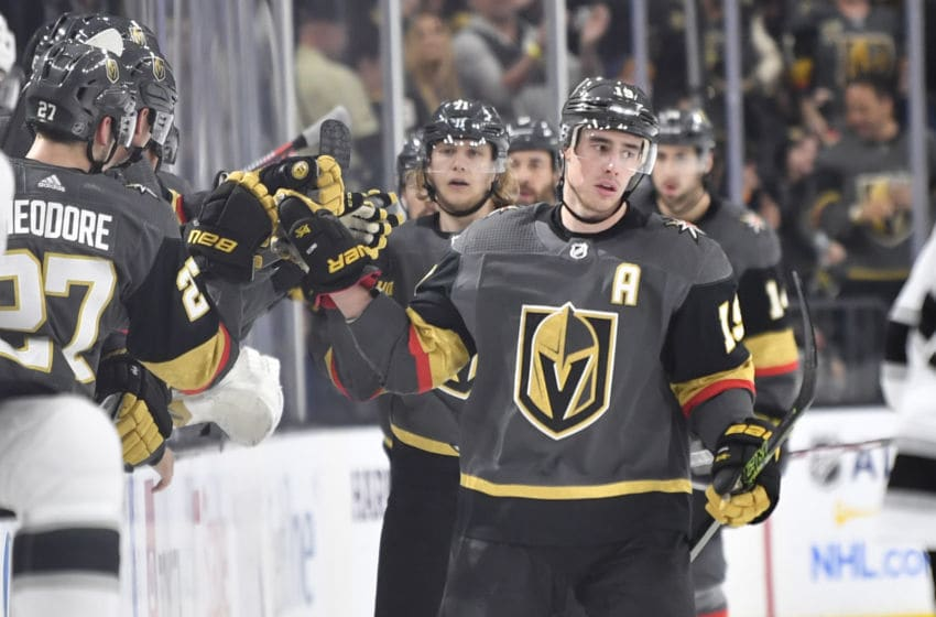 Reilly Smith #19 of the Vegas Golden Knights (Photo by Jeff Bottari/NHLI via Getty Images)