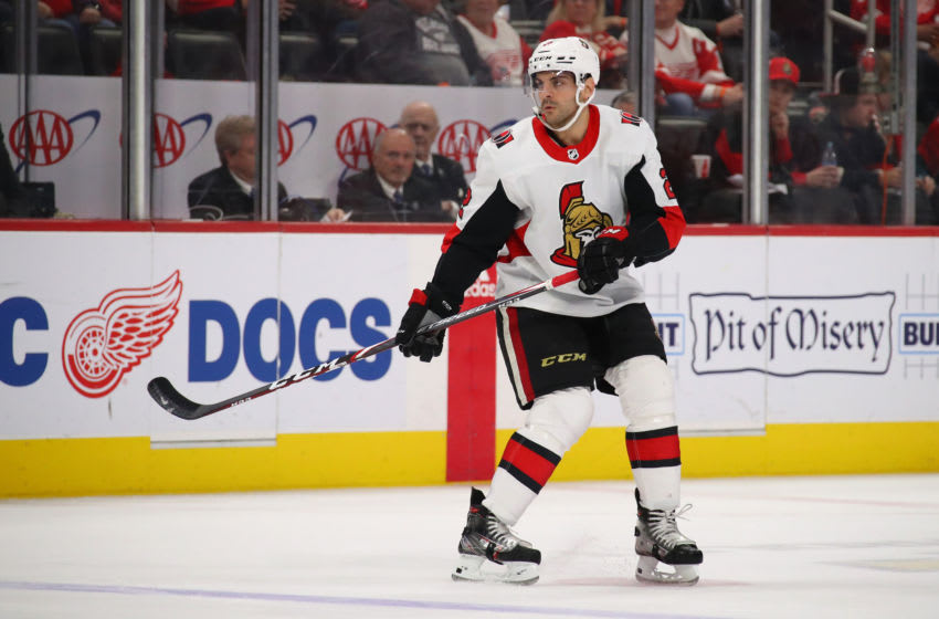 DETROIT, MICHIGAN - JANUARY 10: Dylan DeMelo #2 of the Ottawa Senators skates against the Detroit Red Wings at Little Caesars Arena on January 10, 2020 in Detroit, Michigan. (Photo by Gregory Shamus/Getty Images)