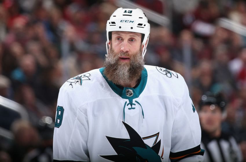 Joe Thornton #19 of the San Jose Sharks (Photo by Christian Petersen/Getty Images)