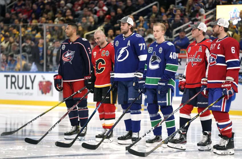 NHL players (Photo by Patrick McDermott/NHLI via Getty Images)