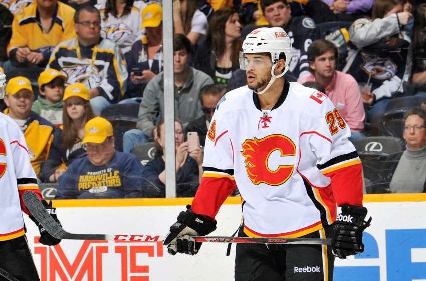 Akim Aliu, Calgary Flames (Photo by Frederick Breedon/Getty Images)