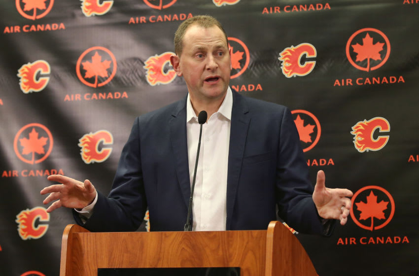 General manager Brad Treliving, Calgary Flames (Photo by Tom Szczerbowski/Getty Images)